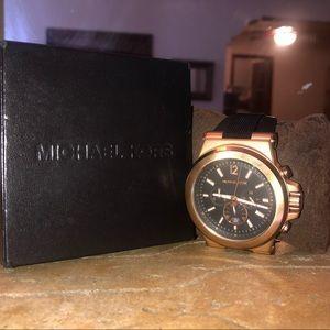 Michael Kors Big Face Matte Gold Watch